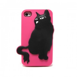 Funda Gato silicona Iphone 4