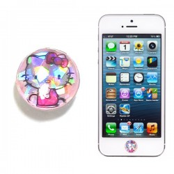 Botón Iphone Kitty Brillo