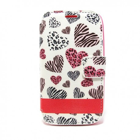 Funda corazones Galaxy Core