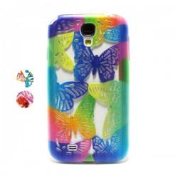 Funda de gel mariposas Galaxy S4