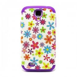 Funda trasera doble Galaxy S4 Flores