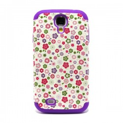 Funda Trasera Doble Galaxy S4 Flowers