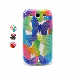 Funda de gel mariposa Galaxy S3