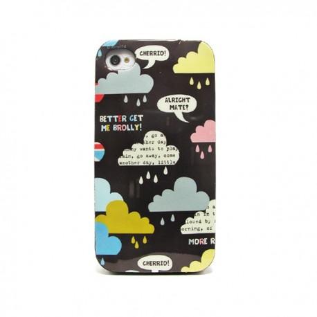 Funda de gel Cloudy para iPhone 4