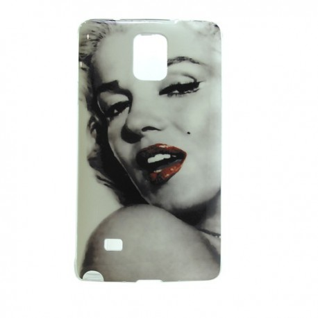 Funda de gel Red Lips para Galaxy Note 4
