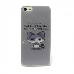 Funda de gel Evil Coffee iPhone 5