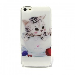 Funda de gel Cat's Language iPhone 5