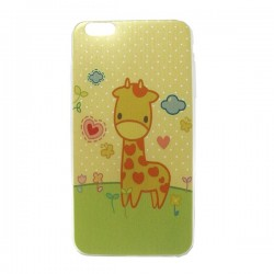 Funda de gel Jirafa iPhone 6 Plus