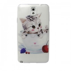 Funda Gatito Galaxy Note3