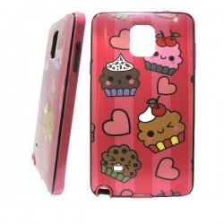 Funda purpurina Happy Cupcake Galaxy Note 4