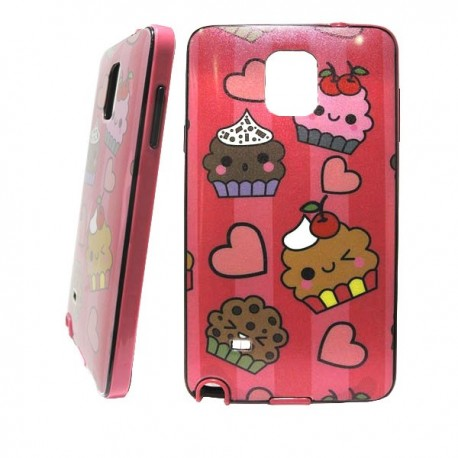 Funda purpurina Happy Cupcake Galaxy Note 4