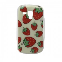 Funda de gel Fresas Galaxy Trend