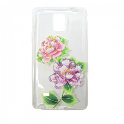 Funda tranparente flower Note 4