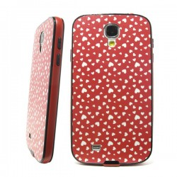 Funda Purpurina Corazones Galaxy S4