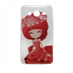 Funda Manga con brillos Galaxy Core 2