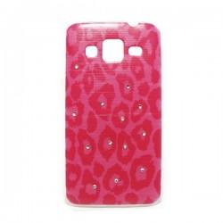 Funda Leopardo rosa Galaxy Core Prime