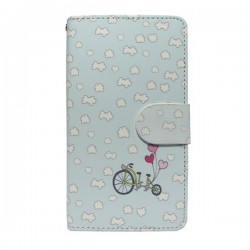 Funda tapa Nubes Alcatel Pop C7