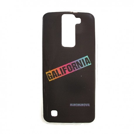 Funda de gel Galifornia lg k8